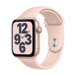 Apple Watch SE GPS + Cellular, 44mm Gold Aluminium Case with Pink Sand Sport Band