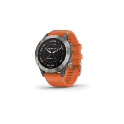 Garmin Fēnix 6 Sapphire 47mm Titanium with Ember Orange Band