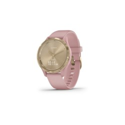 Garmin Vívomove 3S 39mm Light Gold Stainless Steel Bezel with Dust Rose Case and Silicone Band